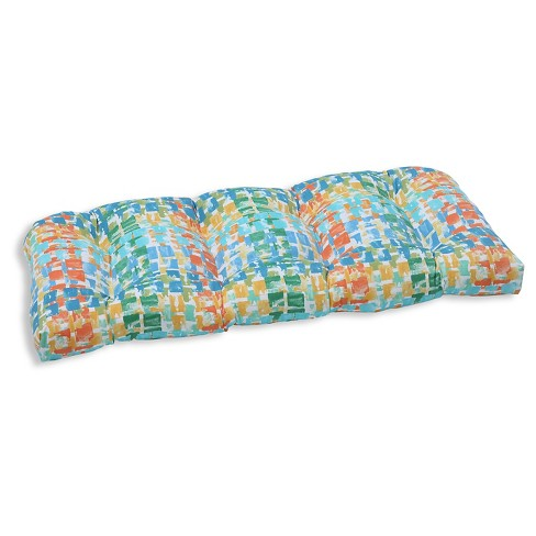 Pillow Perfect Quibble Sunsplash Outdoor Seat Cushion - Blue - image 1 of 1