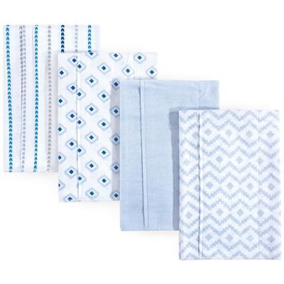 Hudson Baby Infant Boy Cotton Flannel Burp Cloths 4pk