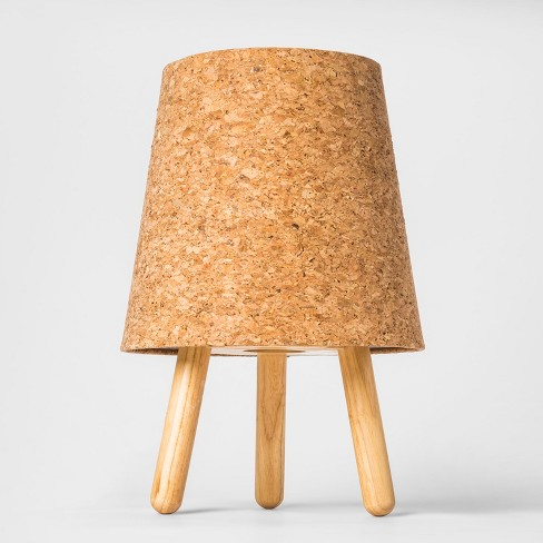 """14"""" x 9.5"""" Decorative Cork Table Lamp Brown - Project 62™ - image 1 of 4"""