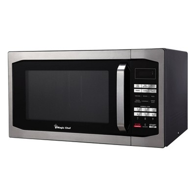 Magic Chef MCM1611ST 1100 Watt 1.6 Cubic Feet Microwave with Digital Touch Controls and Display, Black