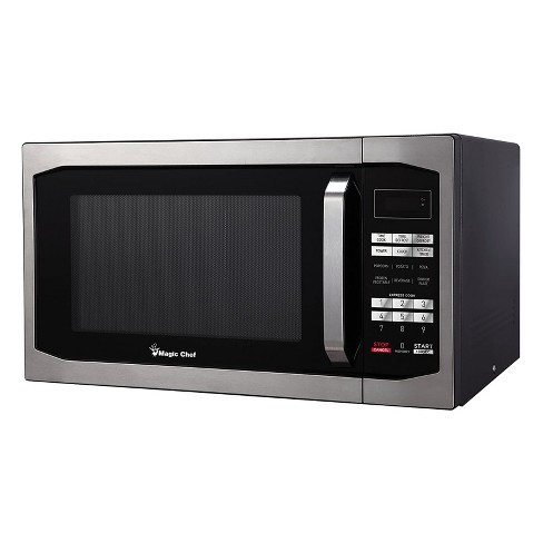 Magic Chef MCM1611ST 1100 Watt 1.6 Cubic Feet Microwave with Digital Touch Controls and Display, Black - image 1 of 3