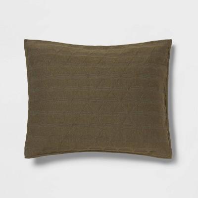 Standard Triangle Stitched Jersey Sham Olive - Project 62™ + Nate Berkus™