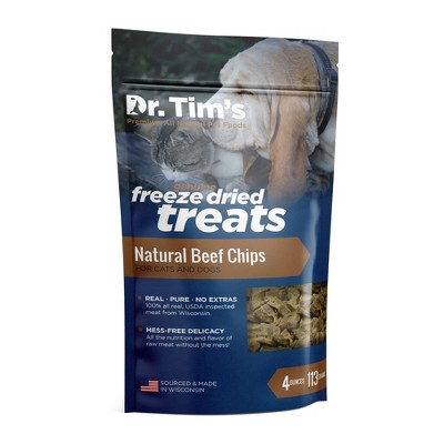 Dr. Tim's Pet Food Freeze Dried Beef Chips - 4oz