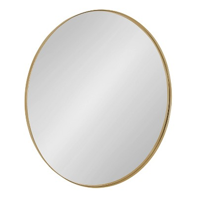 """28"""" Rollo Round Wall Mirror Gold - Kate & Laurel All Things Decor"""