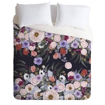 Iveta Abolina Afrodille Floral Comforter & Sham Set - Deny Designs