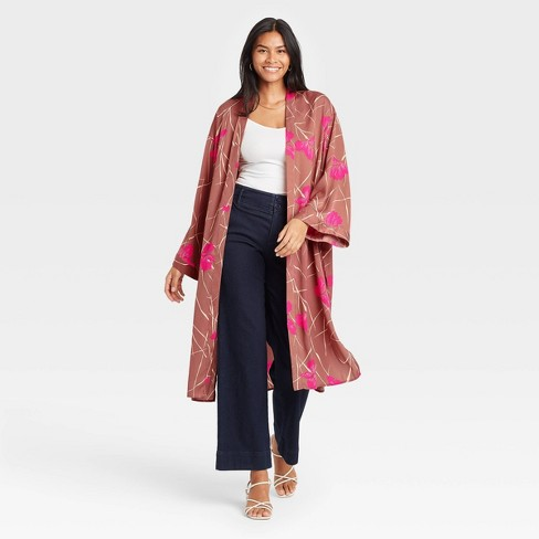Women's Floral Duster - A New Day™ - image 1 of 2