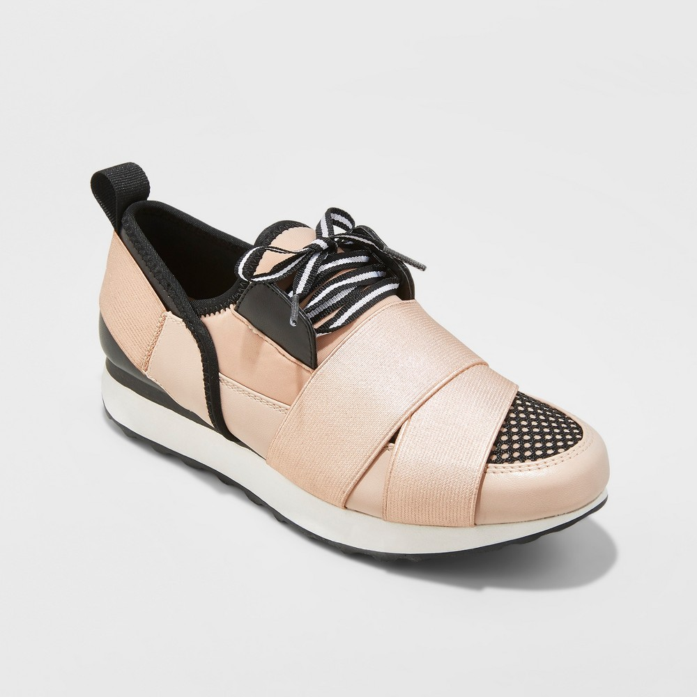 Women's Lacey Banded Sneakers - A New Day Rose Gold 7.5