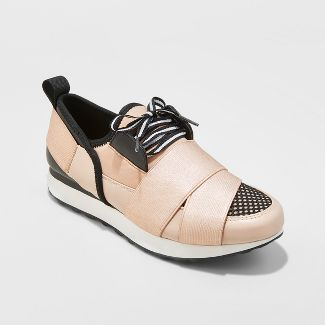 Women's Lacey Banded Sneakers - A New Day™ Rose Gold 8