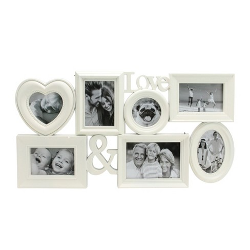 """Northlight 26.5"""" White Multi-Sized Love Collage Picture Frame Wall Decor - image 1 of 3"""