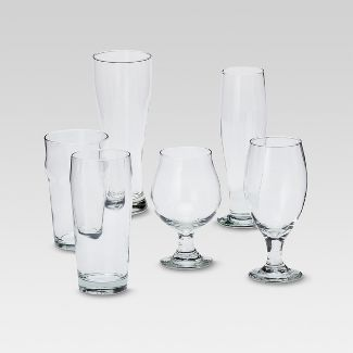 6pc Glass Assorted Beer Glasses Set - Threshold™