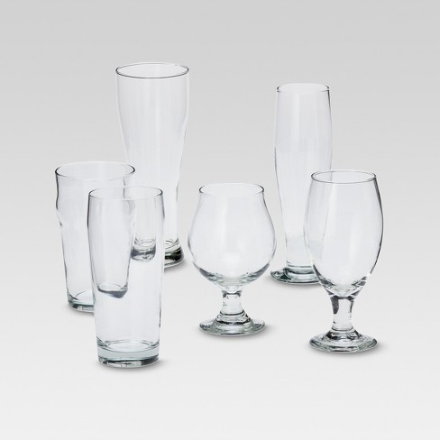 6pc Glass Assorted Beer Glasses Set - Threshold™ - image 1 of 3
