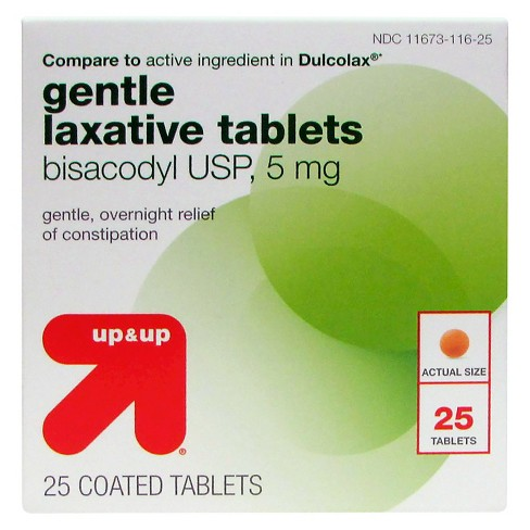 Gentle Laxative 5mg Tablets 25ct Upup Compare To Active