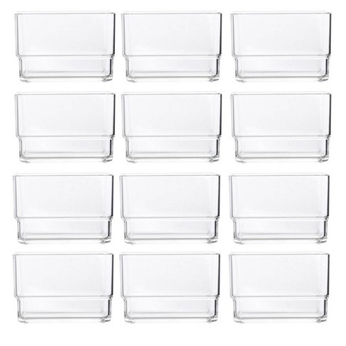"""US Acrylic 3""""x3""""x2"""" Stackable Drawer Organizer - 12pk - image 1 of 4"""