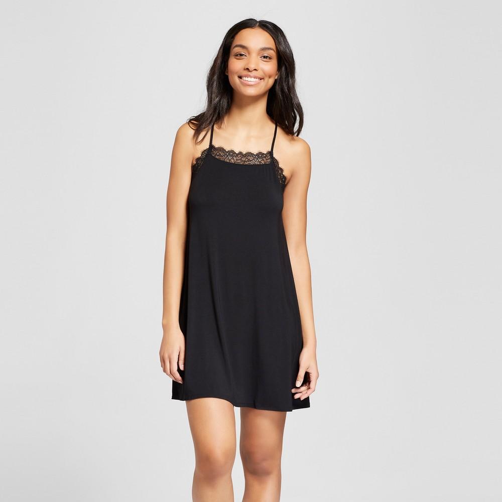 Women's Total Comfort Lace Sleep Chemises Black S