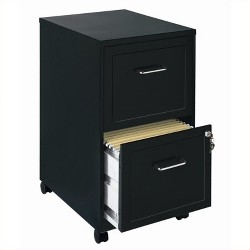 Mobile 2 Drawer File Cabinet in Black-Scranton & Co