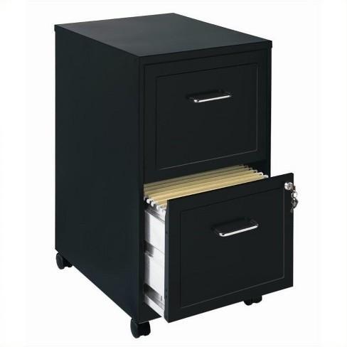 Mobile 2 Drawer File Cabinet in Black-Scranton & Co - image 1 of 1