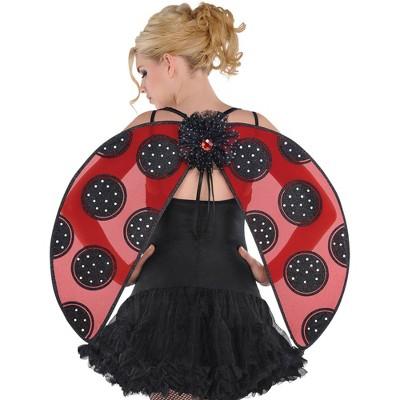 Adult Ladybug Wings Halloween Costume Wearable Accessory