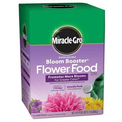 Miracle-Gro Water Soluble Bloom Booster Flower Food 1.5lb