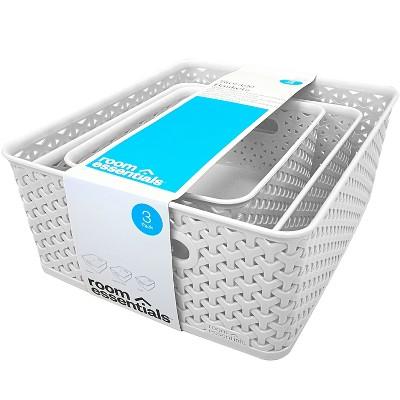 Y Weave Cube Storage Box White - Room Essentials™