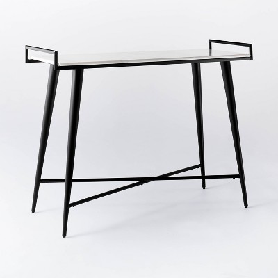 Pleasant Grove Marble Top Console with Metal Base White - Threshold™ designed with Studio McGee