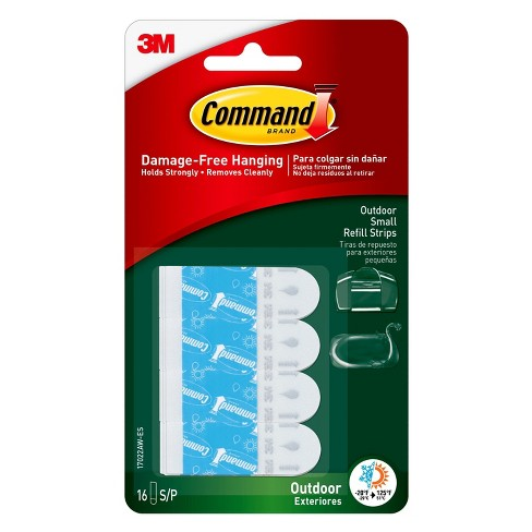 Command™ Outdoor Small Foam Strip Refills, 16/pk - image 1 of 3