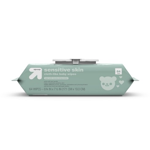 Sensitive Skin Baby Wipes with Moisturizing Lotion - Up&Up™ (Select Count) - image 1 of 4