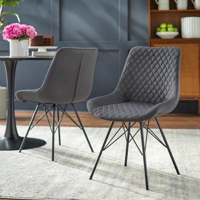 Set of 2 Kavitt Tufted Dining Chair Gray - angelo : Home