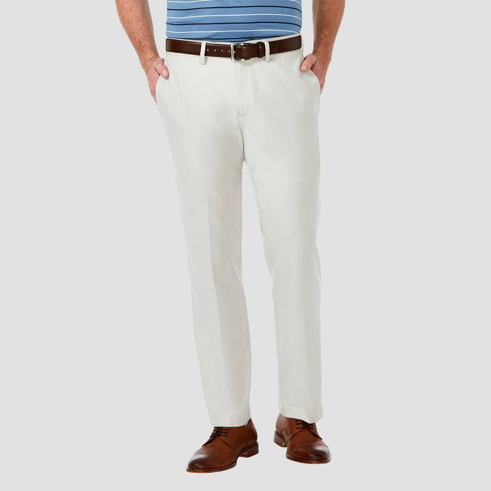 Haggar Men 39 S Cool 18 Pro Straight Fit Flat Front Casual Pants String 36x34