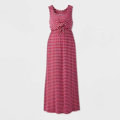 Striped Sleeveless Tie-Front Nursing Maternity Dress - Isabel by Ingrid & Isabel™ Purple XL