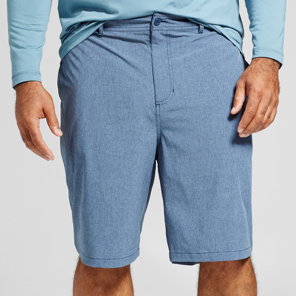 "Image of ""Men's Big & Tall Rotary Hybrid Shorts 10.5"""" - Goodfellow & Co Blue 56"""