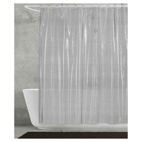 Linea Shower Curtain Gray