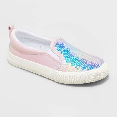 Girls' Aliki Flip Sequin Slip-On Apparel Sneakers - Cat & Jack™