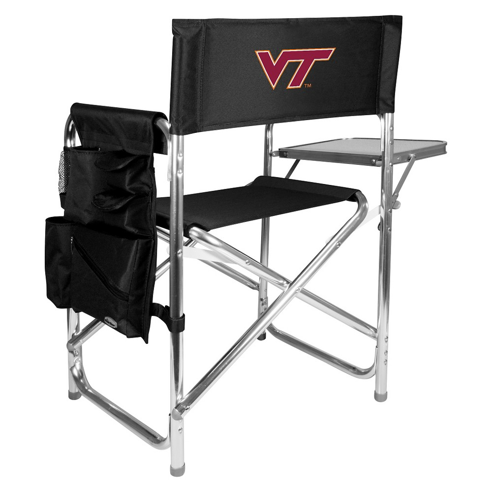 Portable Chair NCAA Virginia Tech Hokies Black