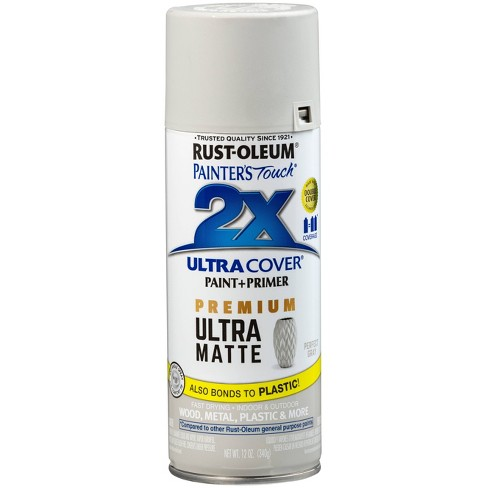 Rust-Oleum 12oz 2X Painter's Touch Ultra Cover Matte Spray Paint Gray - image 1 of 2