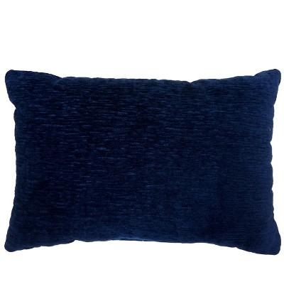 Solid Lumbar Chenille Throw Pillow Navy - Threshold™