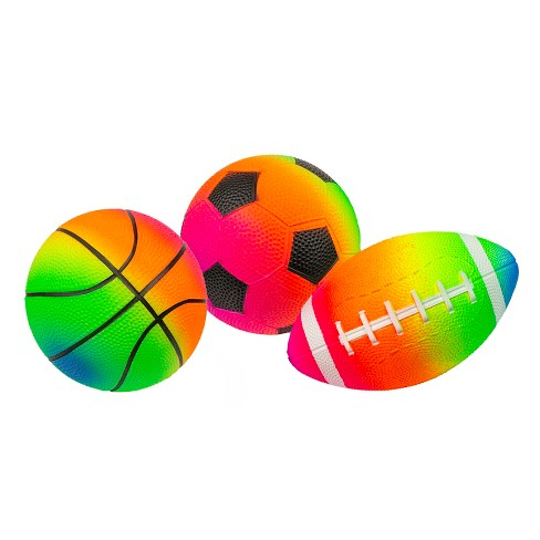 Pool Central Set of 3 Rainbow Pebble Textured PVC Sports Water Sports Balls - image 1 of 4