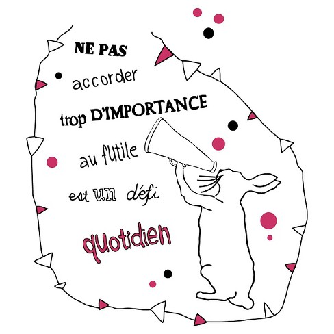 Defi quotidien Wall Decal - Black - image 1 of 2