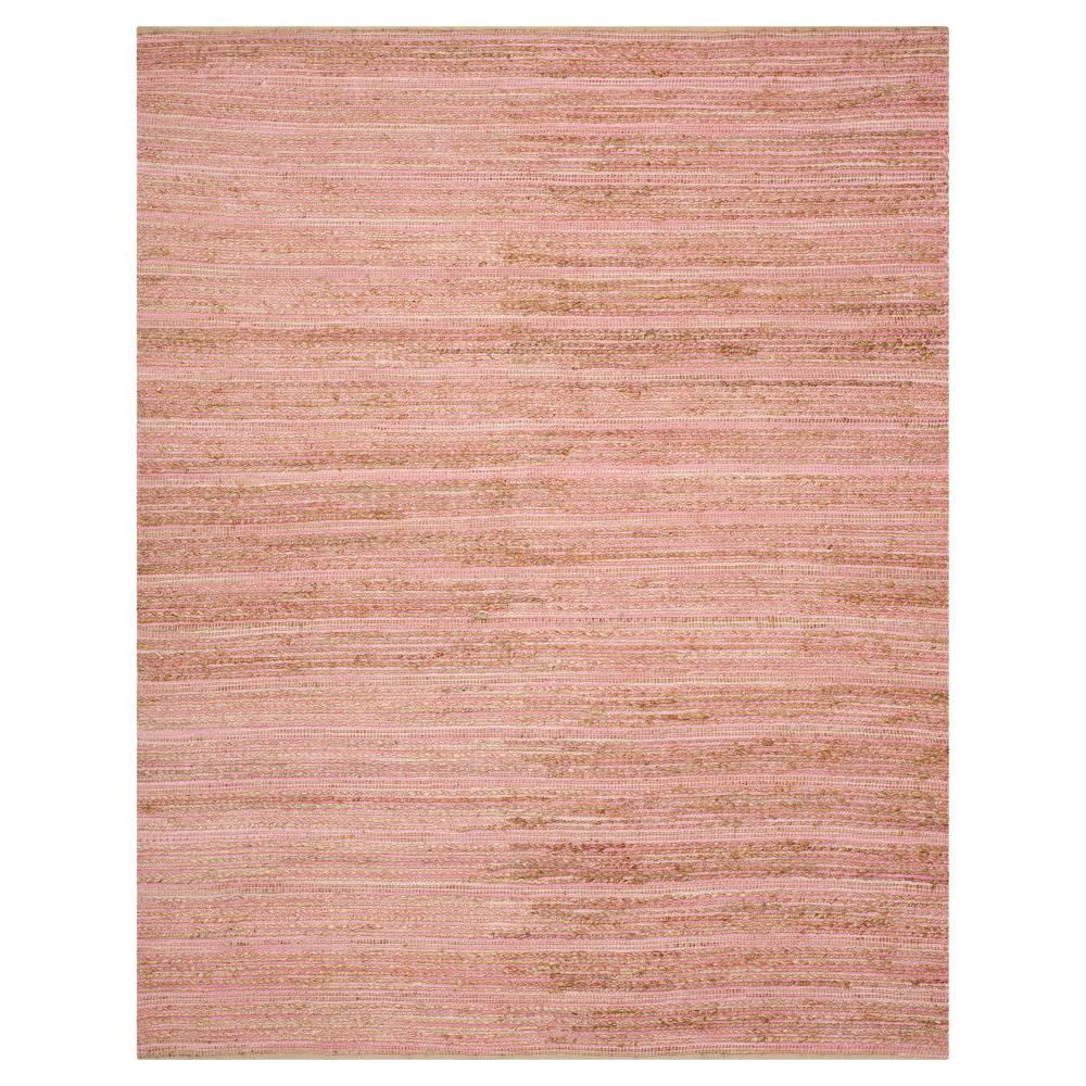 8'x10' Stripe Area Rug Light Pink - Safavieh