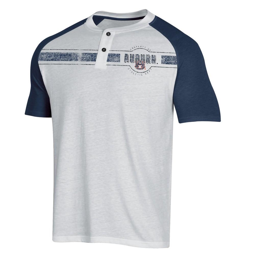 NCAA Men's Raglan Henley T-Shirt Auburn Tigers - Xxl, Multicolored