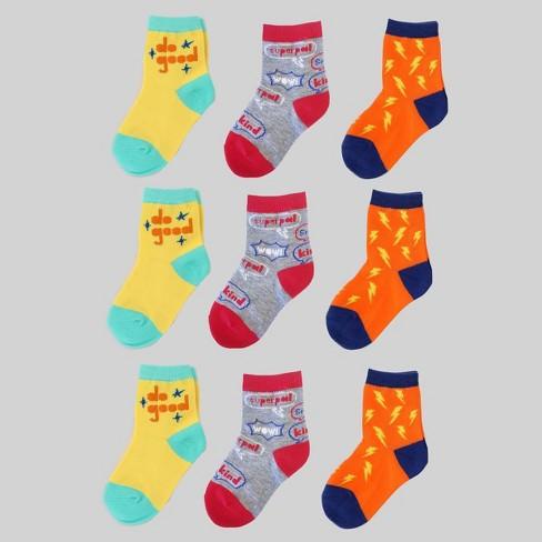 9pk Boys Socks - Bullseye's Playground™ - image 1 of 1