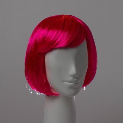 Adult Premium Light Up Hot Pink Bob Halloween Costume Wig - Hyde & EEK! Boutique™