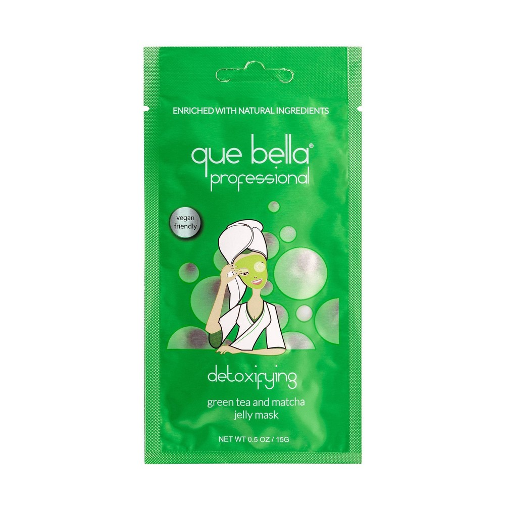 Image of Que Bella Detoxifying Matcha Jelly Face Mask - 0.5oz