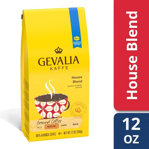 Gevalia House Blend Medium Dark Roast Ground Coffee - 12oz - image 1 of 4