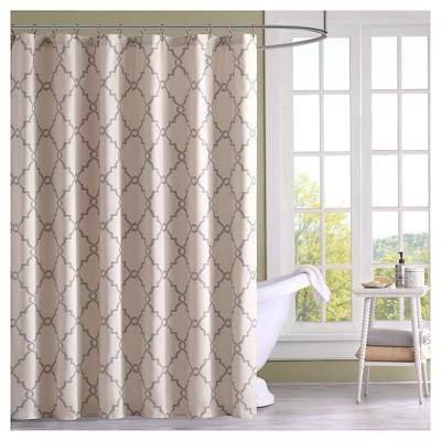 Sereno Geometric Fretwork Shower Curtain