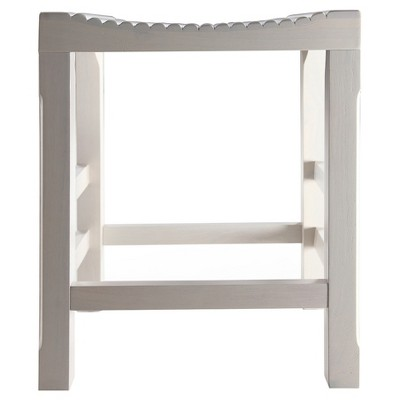 Tristan Bar Counter Height Barstool - Vintage White - Haven Home