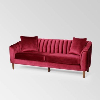 Ansonia Contemporary Velvet Sofa - Christopher Knight Home