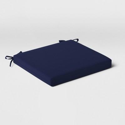 Outdoor Seat Cushion DuraSeason Fabric™ Navy - Threshold™