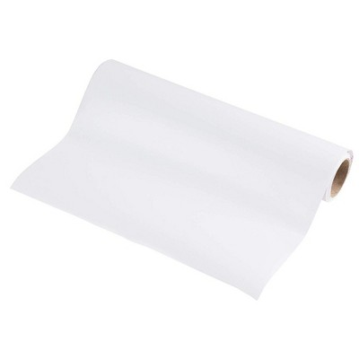 Juvale Permanent Vinyl Roll, Adhesive for Arts and Crafts, White (12 In x 14.8 Ft)