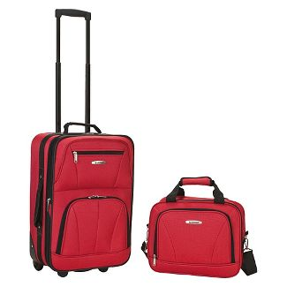 Rockland Luggage 2 Piece Set - Pink