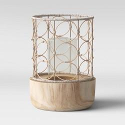 Outdoor Lantern Wood & Woven - Opalhouse™